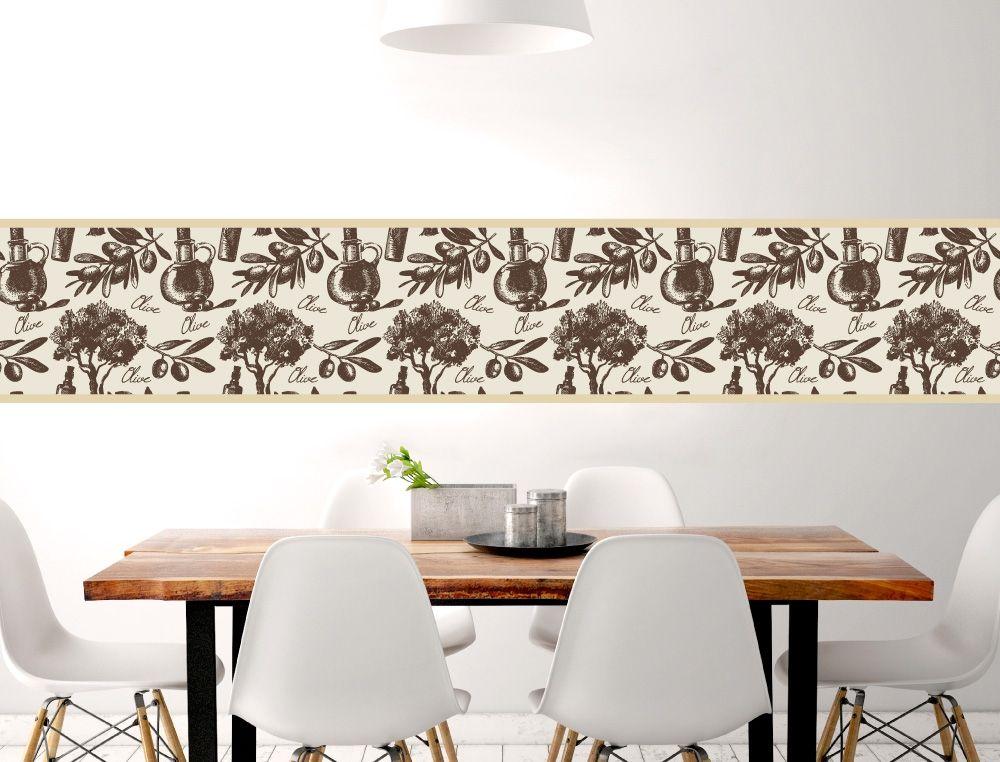 Oliven als Küchenbordüre - I-love-Wandtattoode Küchen Bordüren - wandtatoos für küche