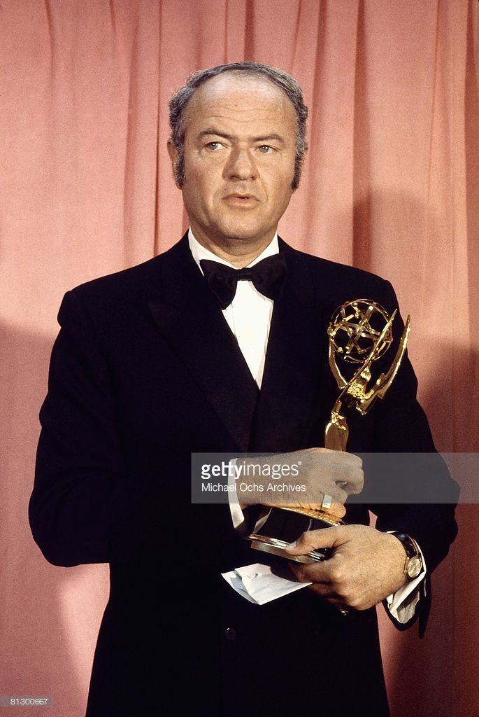 Actor Harvey Korman (1927-2008) poses backstage with his trophy at the 1972 Emmy Awards on May 6, 1972 at the Hollywood Palladium in Los Angeles, California.