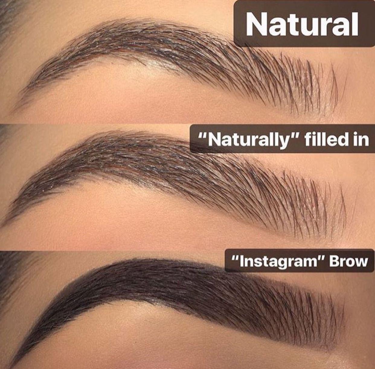 Natural Eyebrows Brow Tutorial Instagram Eyebrows Filled In