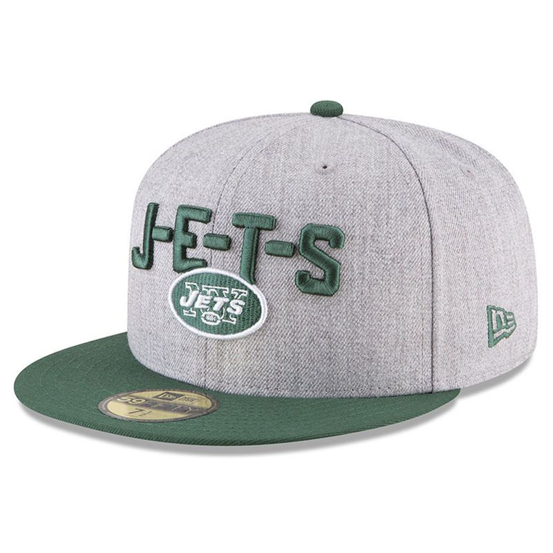 san francisco c7820 7b723 New York Jets New Era 2018 NFL Draft Official On-Stage 59FIFTY Fitted Hat –  Heather Gray Green