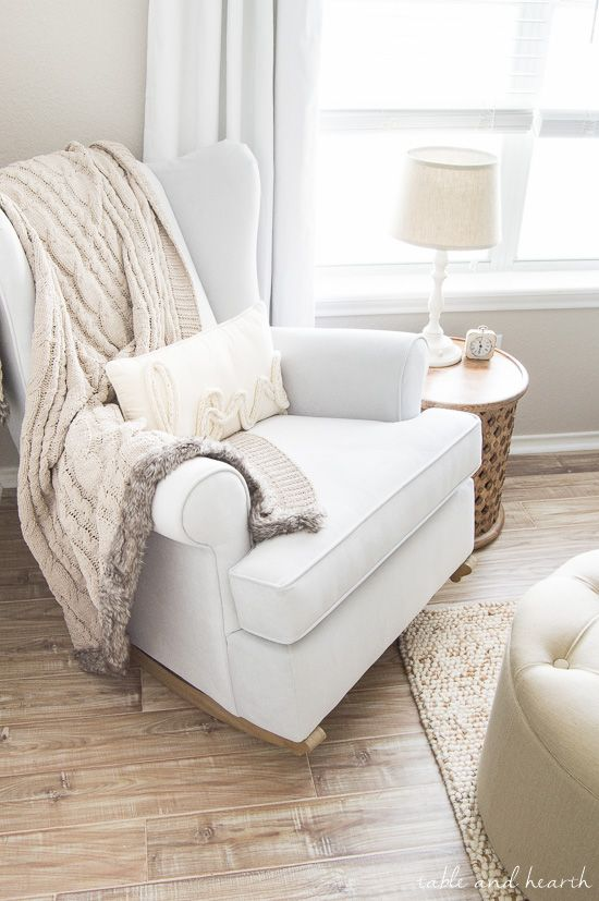 Rocking Chair Recliner For Nursery Ergonomic Design Weathered And Neutral Update Our Home Pinterest Chairs Armchair