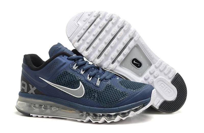 c03557cc5ffb Men s Nike Air Max+ 2013 Navy Blue Grey-White  Mens Nike Air Max ...
