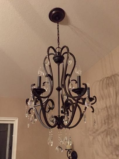Hampton Bay 5 Light Oil Rubbed Bronze Crystal Chandelier Ihx9115a At The Home Depot Mobile