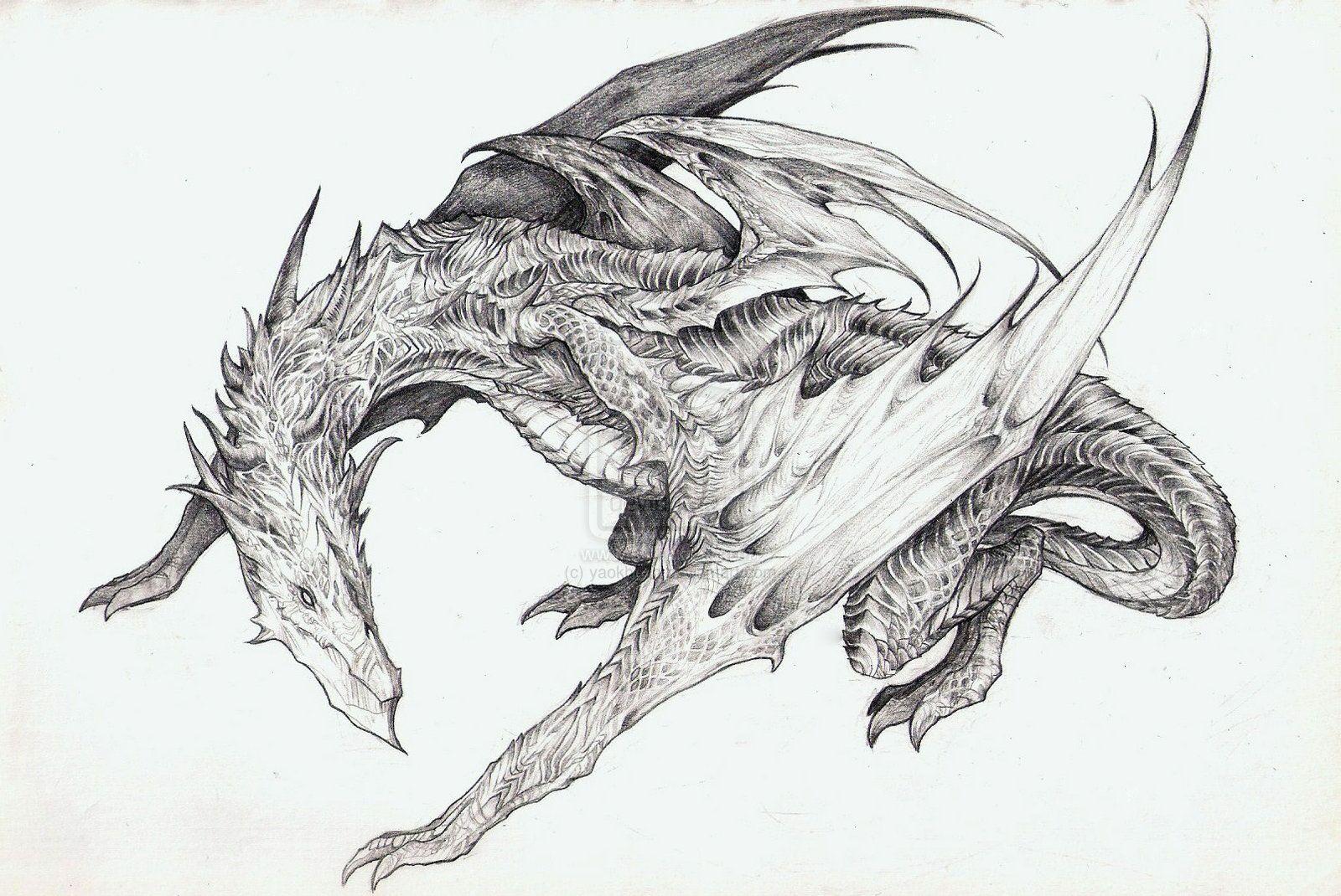 Днем, крутые рисунки драконы