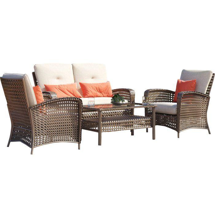 Joss And Main Patio Furniture.Ranchero 4 Piece Sofa Seating Group Reviews Joss Main Porch