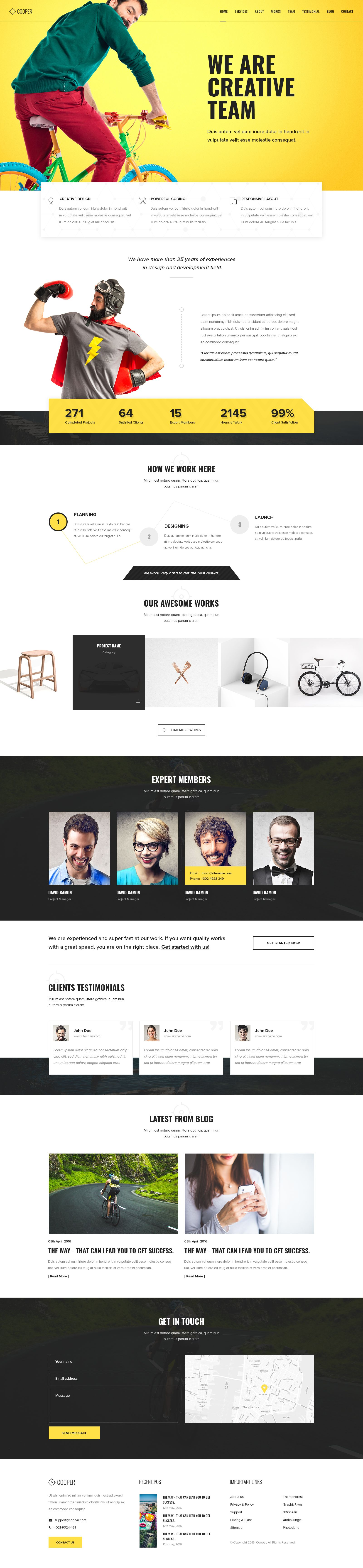 Cooper 4 In 1 Multipurpose Landing Page Psd Template Web Design Free Website Templates Html5 Web Inspiration