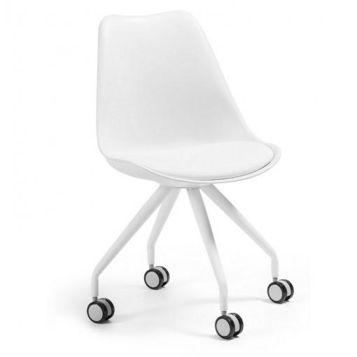 Silla oficina con ruedas Lars Epoxy blanco C975U05 | Sillas de ...