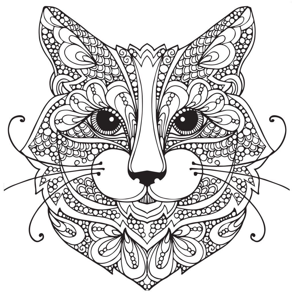 Cat Coloring Pages For Adults Best Coloring Pages For Kids Cat Coloring Book Cat Coloring Page Mandala Coloring Pages