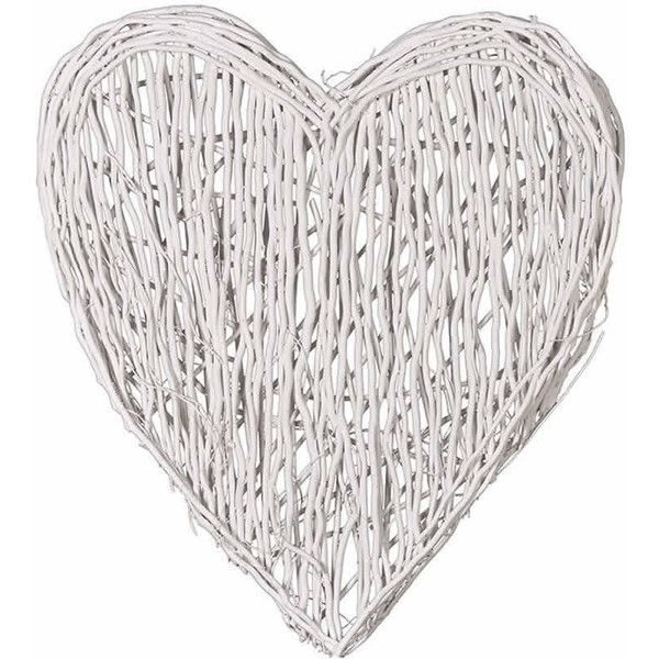 Cowshed Interiors Extra Large Christmas White Wicker Love Heart 145 Aud Liked On Polyvore Featuring Home Home Decor White Ho White Wicker Shabby Chic Home Accessories Wicker Hearts