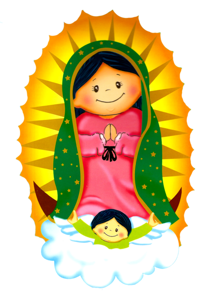 Lupita Virgencita De Guadalupe Caricatura Virgen De Guadalupe Virgen Caricatura