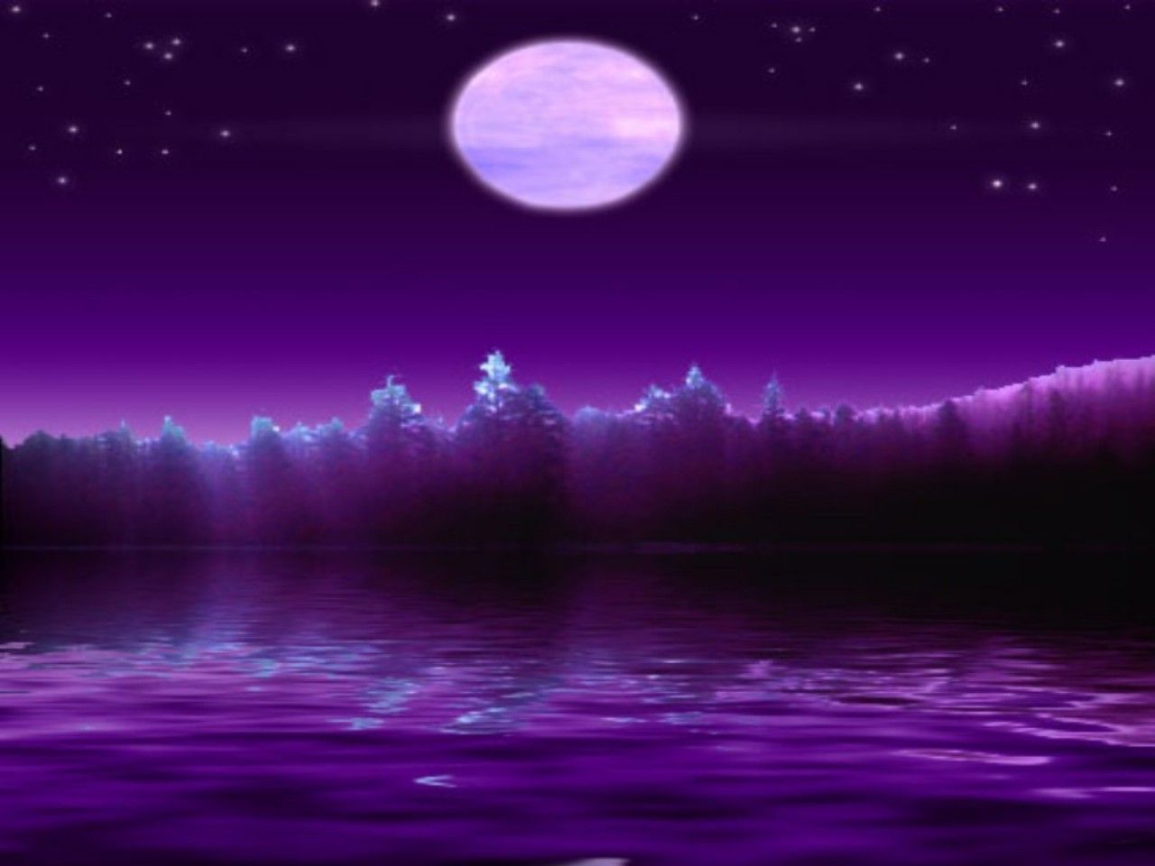 Purple sky purple night moon night purple reflection - Purple moon wallpaper ...
