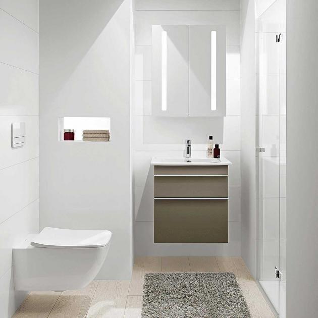 Tricks für Mini-Badezimmer Helle Trickserei Mehr Weite durch Licht