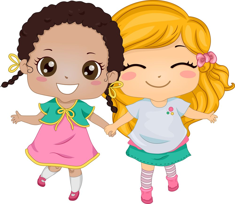 I Ll Be Your Bff Friends Illustration Cute Friends Girls Holding Hands