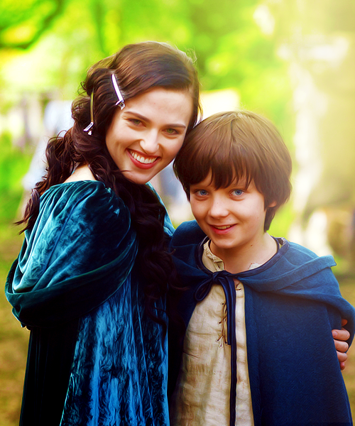 Katie McGrath(Morgana) & Asa Butterfield(Young Mordred