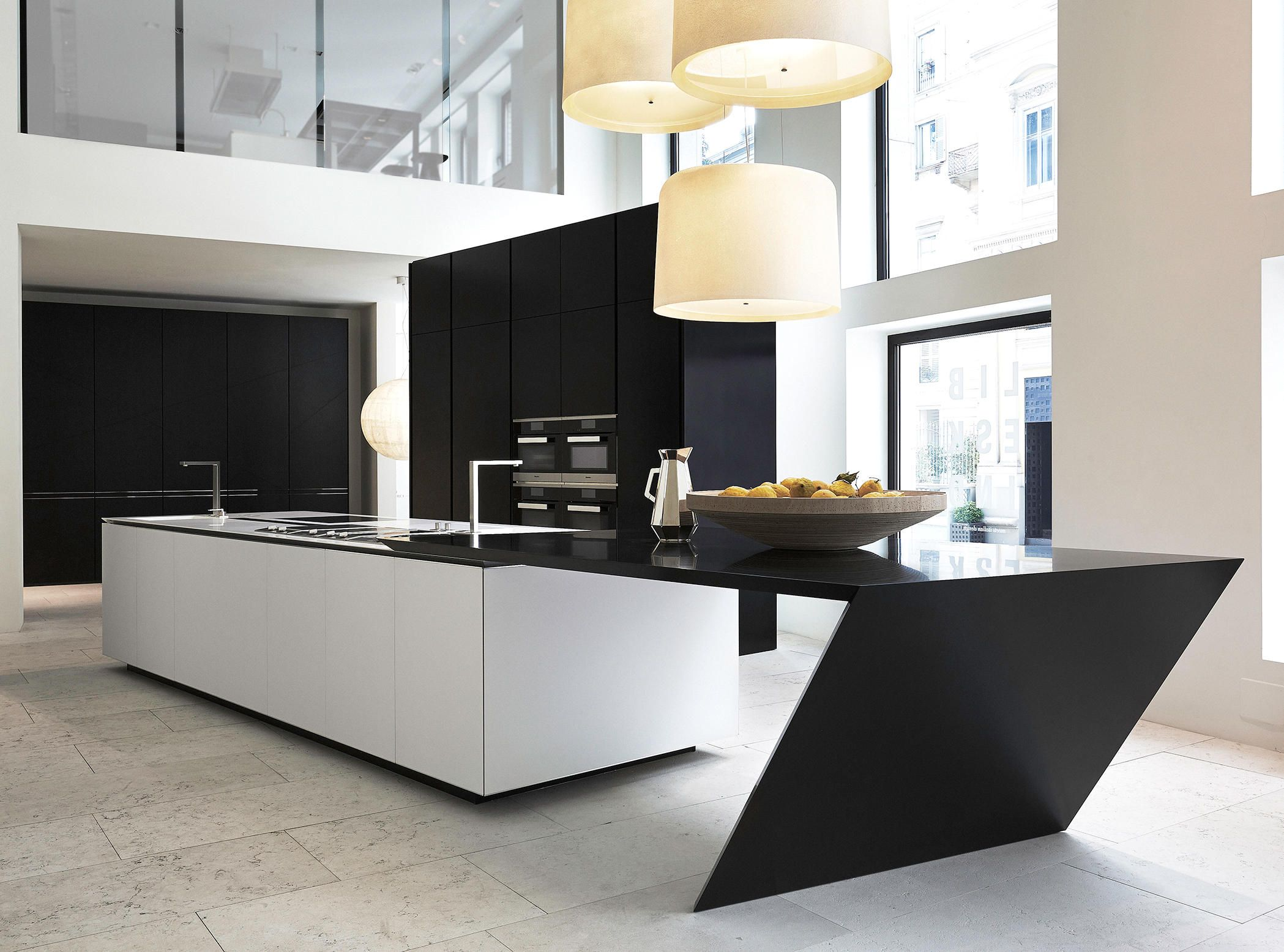 The Sharp kitchen by Poliform Varenna design Daniel Libeskind. It ...