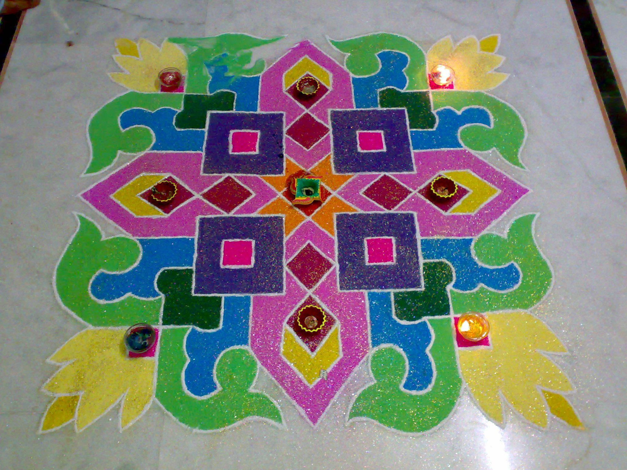 Beautiful sand Rangoli... Made this for Diwali