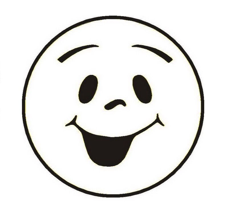 happy face coloring page # 2