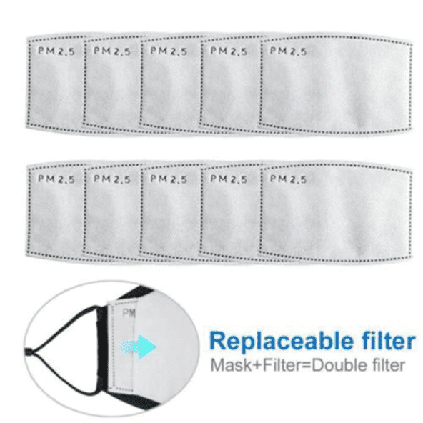 PM2.5 Carbon Mask Filter (For Reusable Masks Only) in 2020