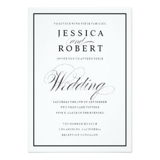 Impress your guests with this elegant, black-bordered script ...