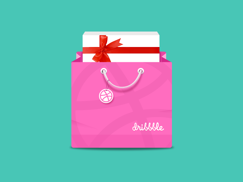 Dribbble Gift Bag Png By Jerrychen Gifts Dribbble Gift Bag
