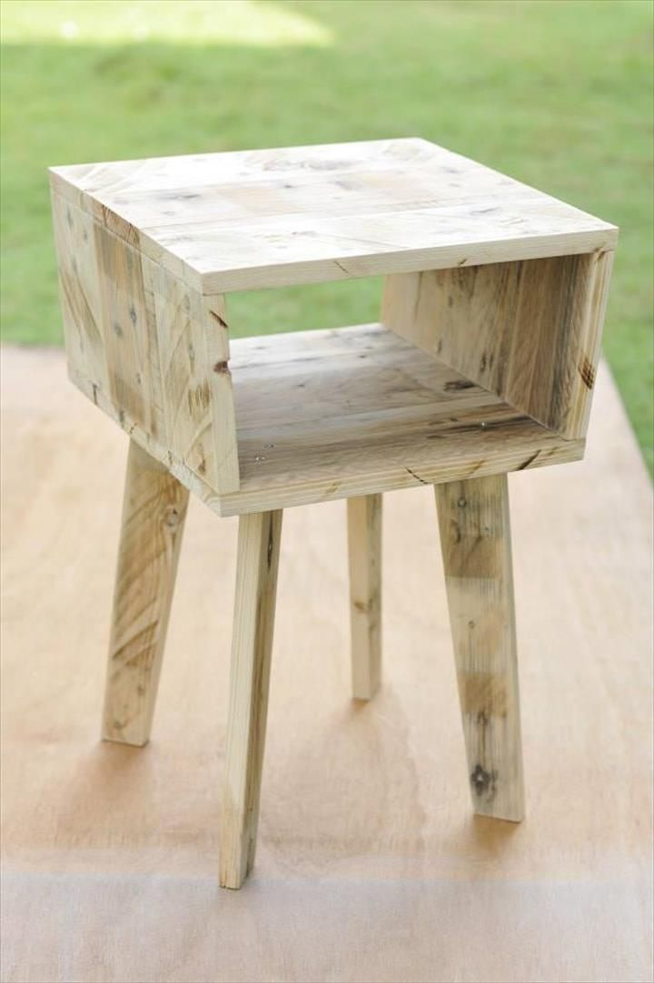 Creative Pallet Side Table Pallet Side Table Unique Side Table
