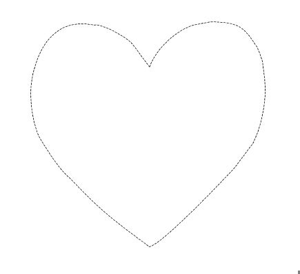 Heart Outline Template  Srdce    Heart Template And