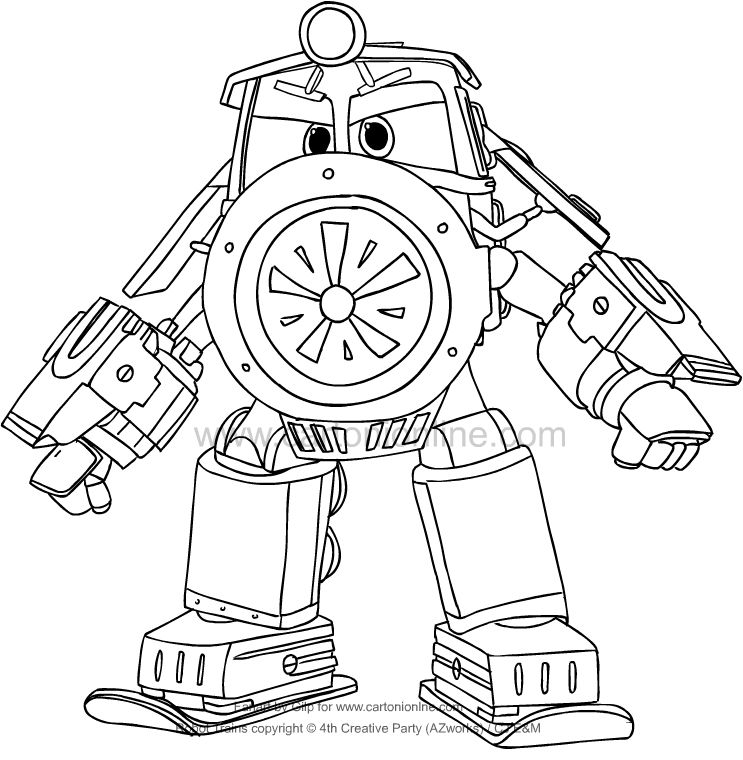 Victor From Robot Trains Coloring Page Download Free Best Quality On Clipart Email Train Coloring Pages Monster Truck Coloring Pages Coloring Pages
