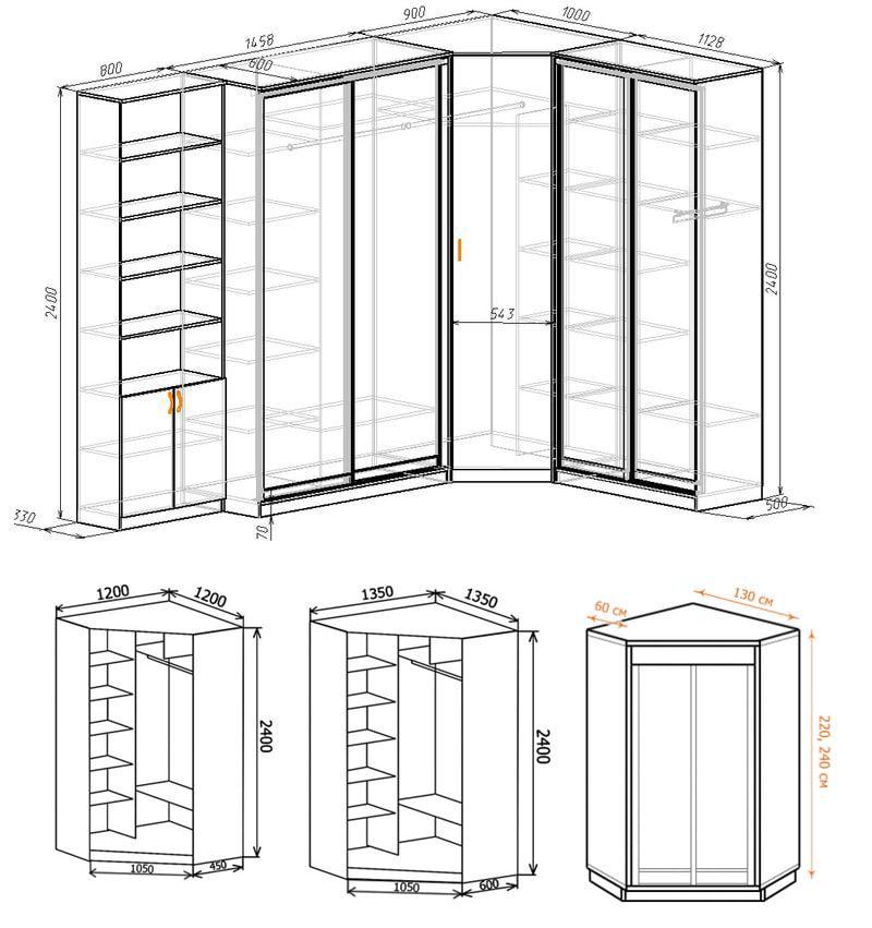 Спальня с угловым шкафом: наполнение, размеры, дизайн ...