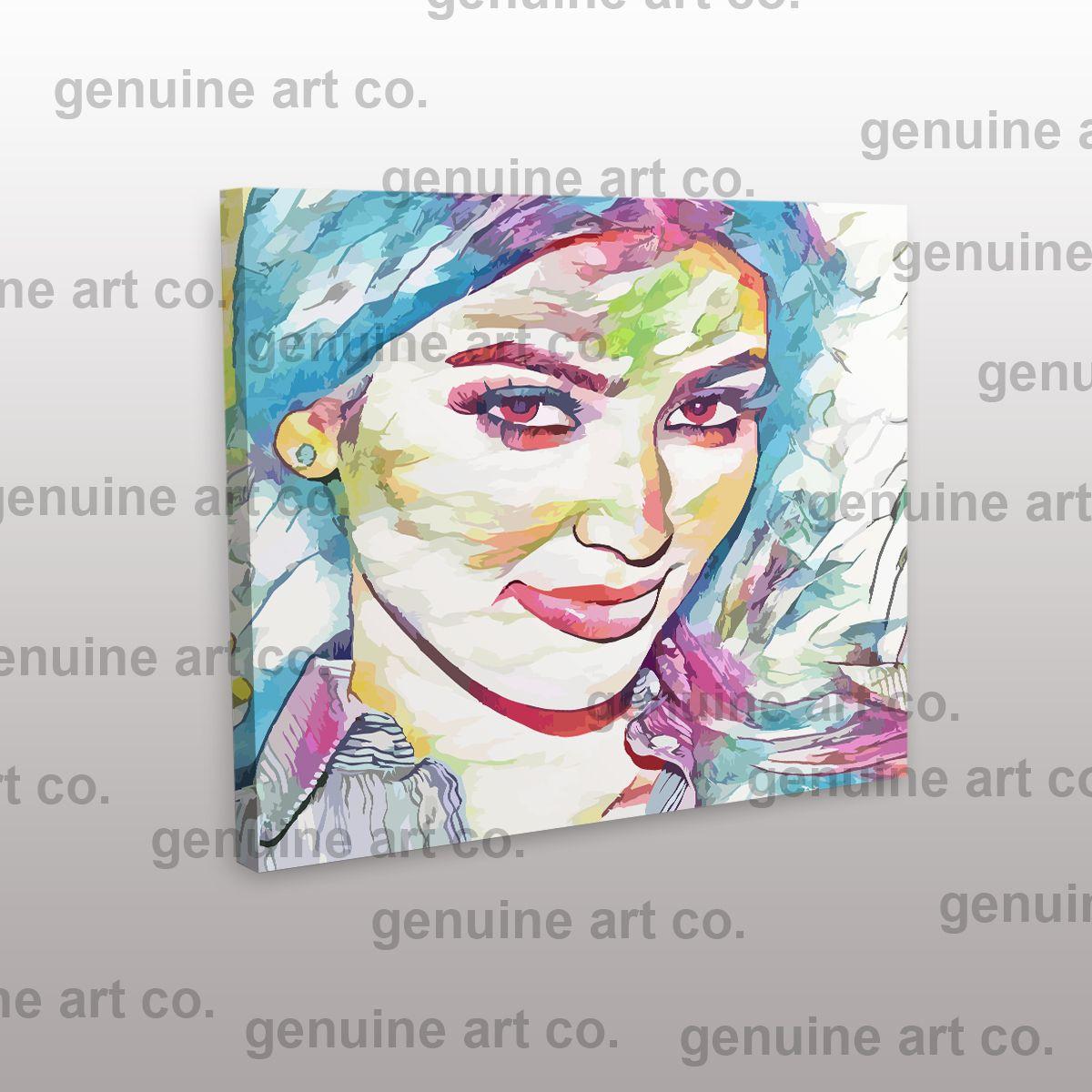 Canvas Kim Kardashian Art Print Poster