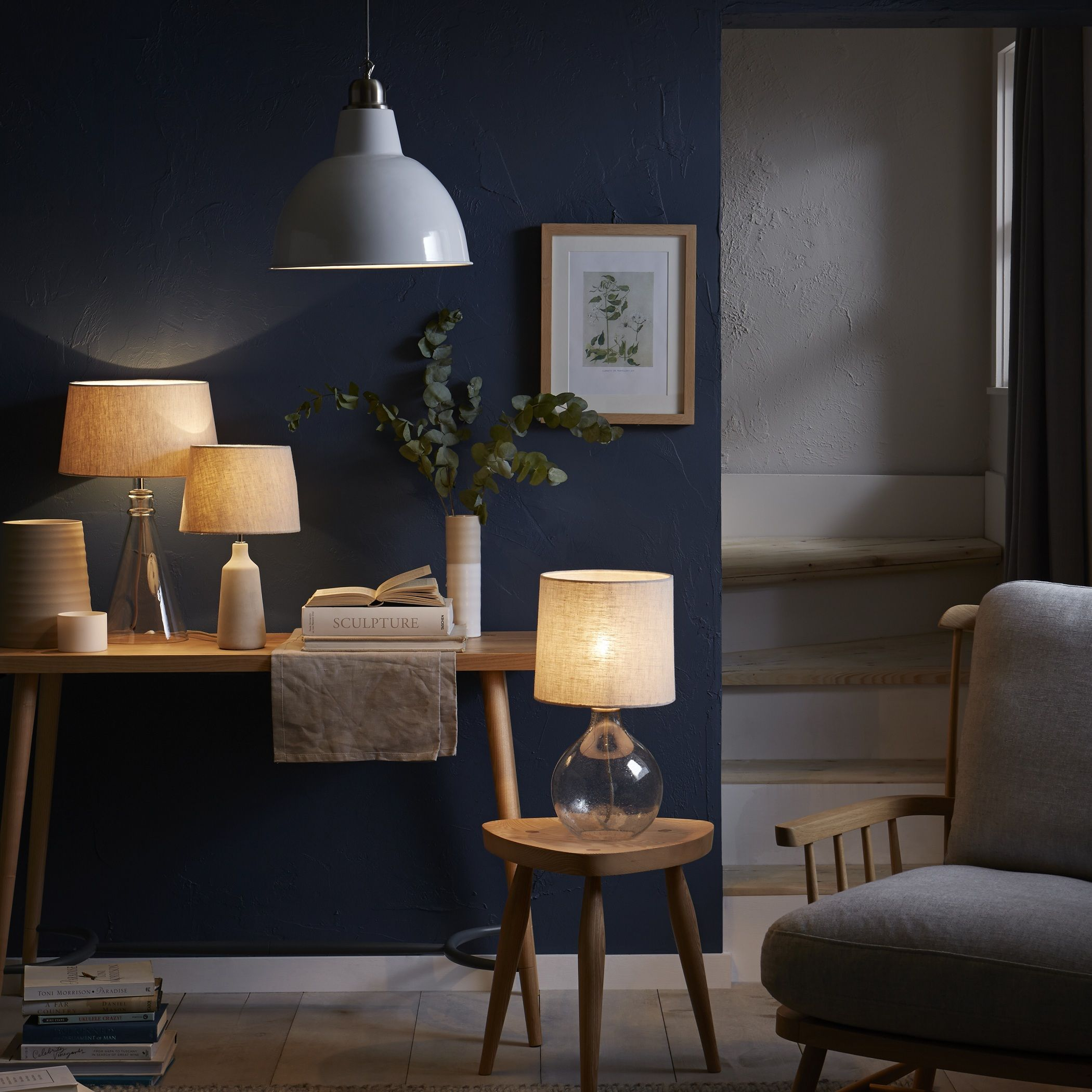 John Lewis Have A Number Of Natural Wood And Glass Ligh