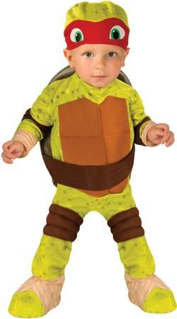 Our Teenage Mutant Ninja Turtle Raphael Toddler Costume is a cute and comfortable costume for your little one's first trick or treating adventure. This cute Teenage Mutant Ninja Turtle Raphael costume includes, romper, shell and headpiece. Additional Teenage Mutant Ninja Turtles toddler costumes and accessories are available and sold separately.