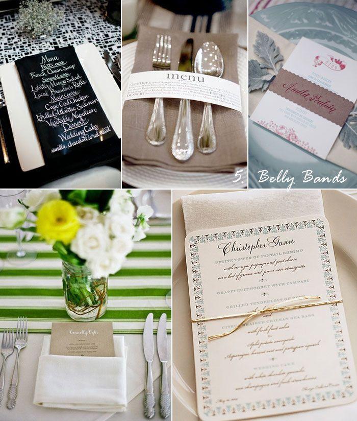 Diy Wedding Food Menu Ideas: Menu Written On Black Dinner Napkin Via The Brooklyn Bride
