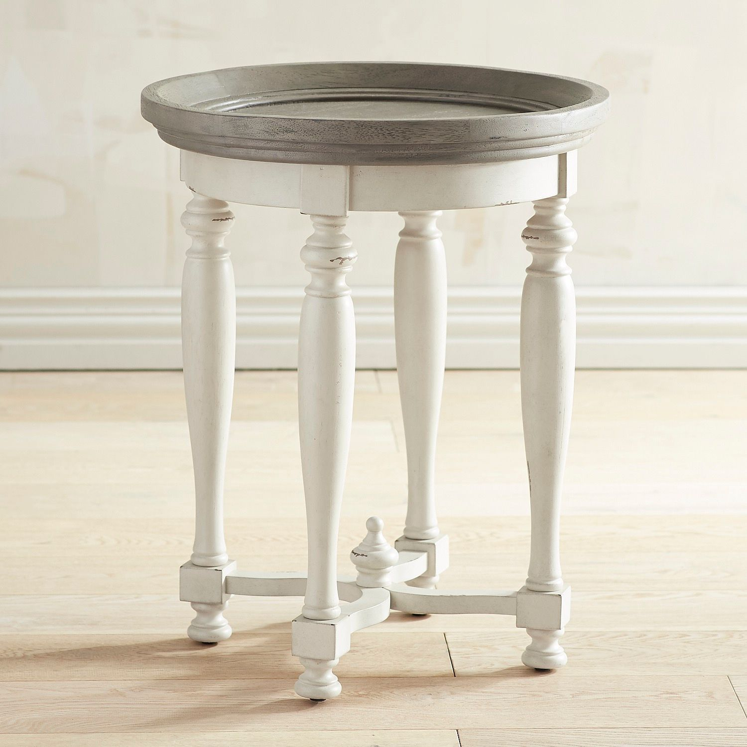 Amelia Shadow Gray Round End Table | Pier 1 Imports | End ...