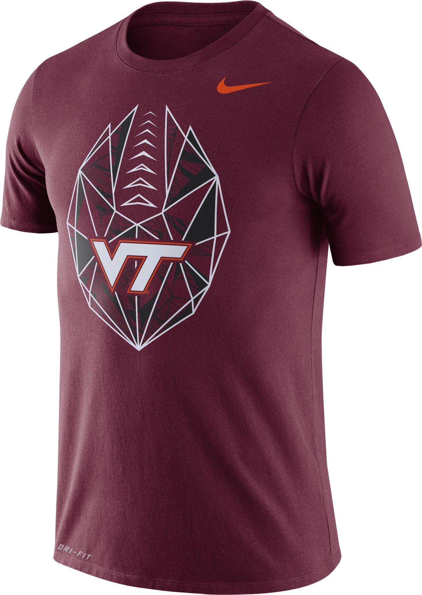 best service 15273 70e5f Nike Men's Virginia Tech Hokies Maroon Dri-FIT Football Icon ...