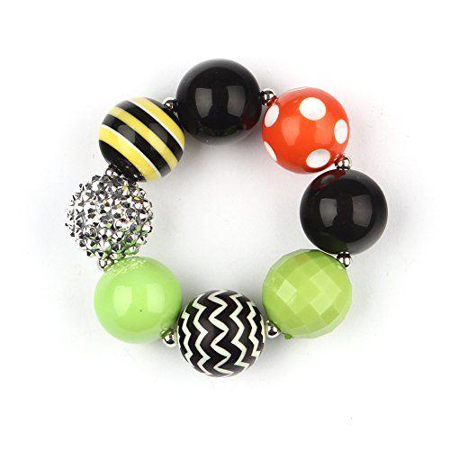Wxbox Girls Bracelet Chunky Bubblegum Beaded Wristlet Birthday Gift 1 -- For more information, visit image link.