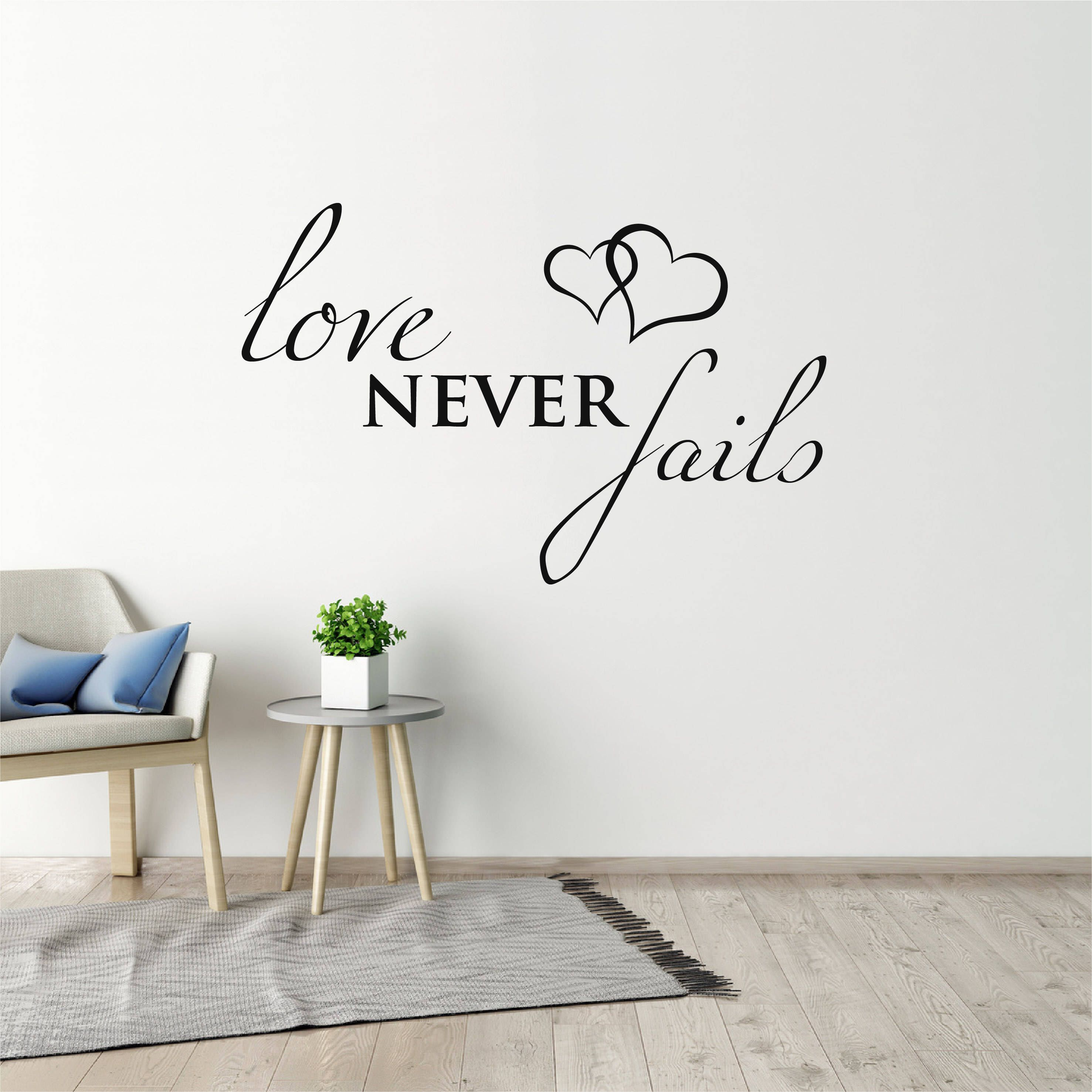 Scripture Wall Sticker Quote Bible Verse Wall Decal Love Never - Wall decals quotes bible
