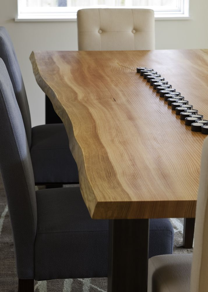 Dining Room Table Compliments Kitchen Countertop With Live Edge