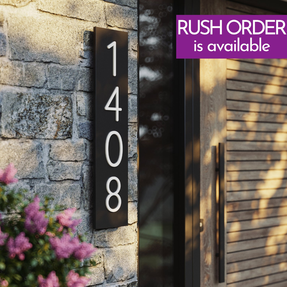 House Numbers Modern Address Plaques Vertical House Numbers Vertical Address Plaques Address Plaque Modern House Address House Sign In 2020 House Numbers Address Plaque House Address