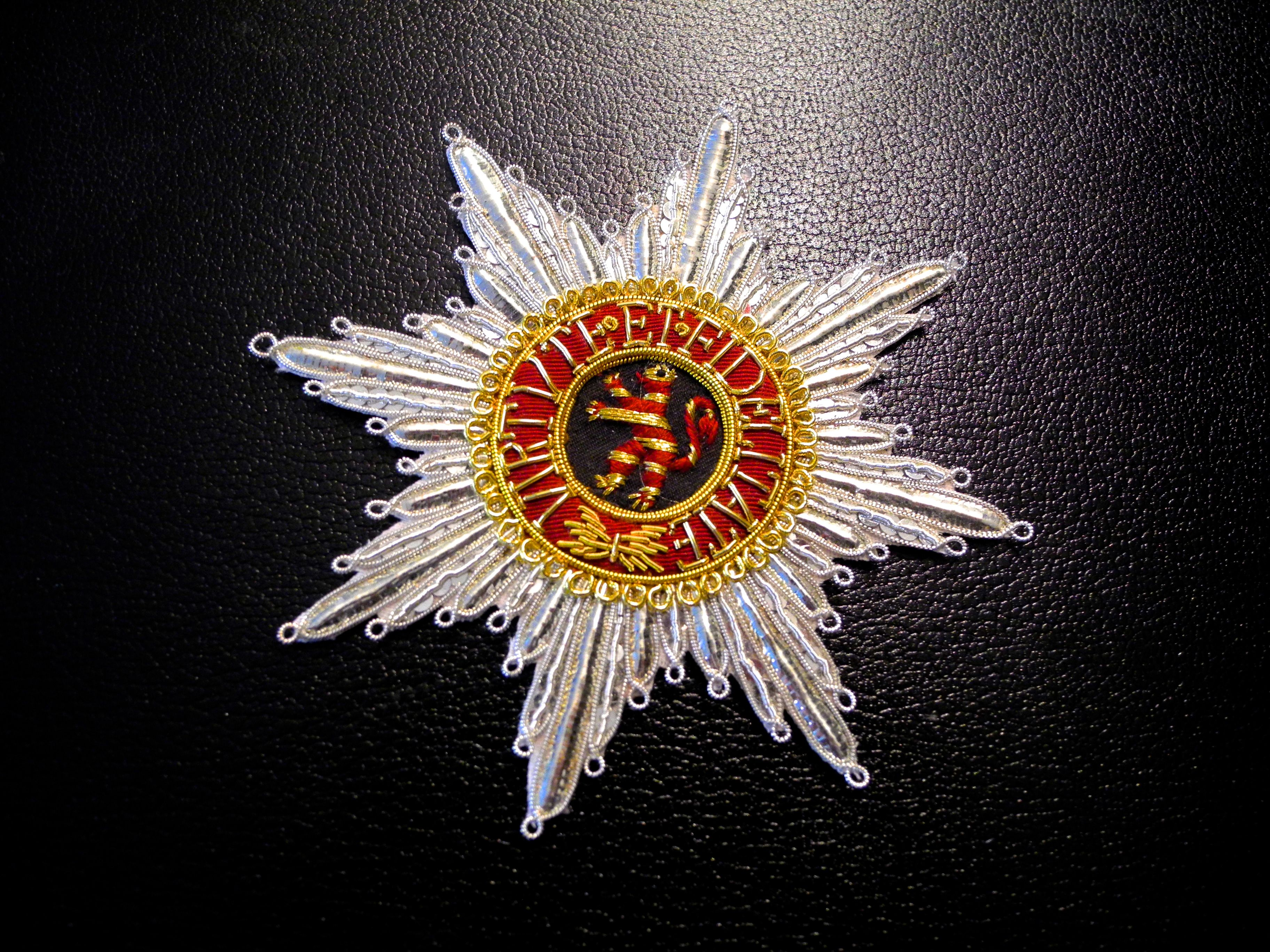 Electorate Hesse-Kassel, Order of the Golden Lion, embroidered breast star
