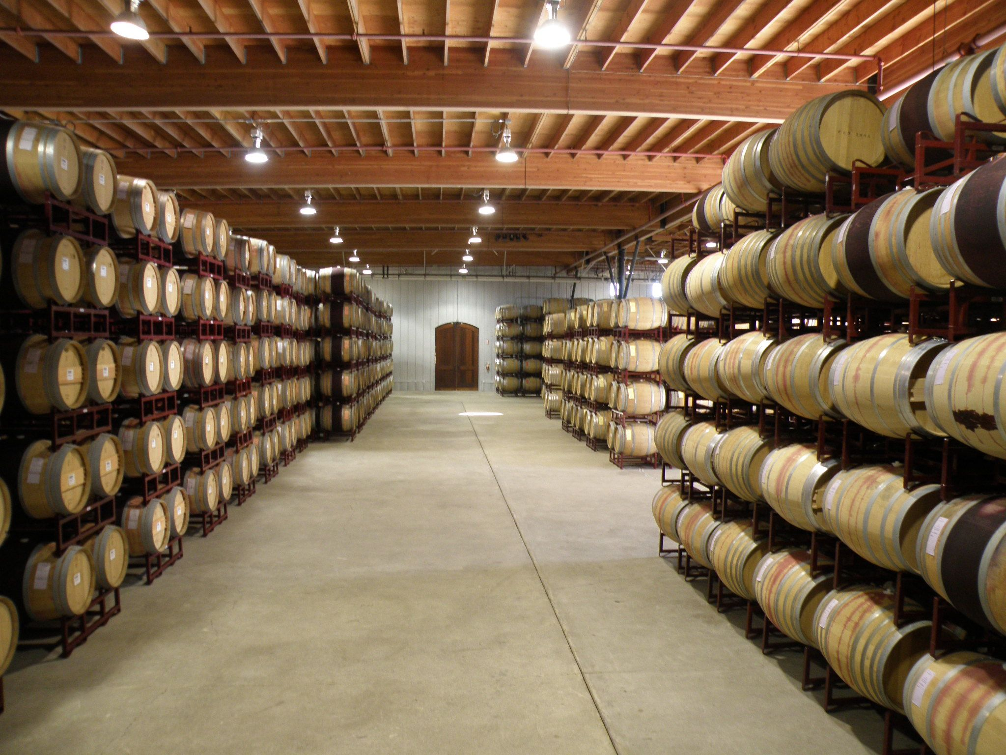 Our cellar room. This is where we ferment and age our wine.