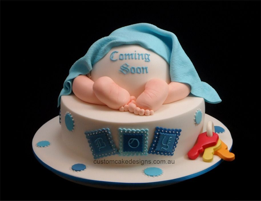 Baby Shower Cakes Perth Wa ~ Baby bottom shower cake by customcakedesigns
