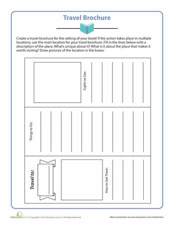 Worksheets Travel Brochure I use this travel brochure when - blank brochure templates