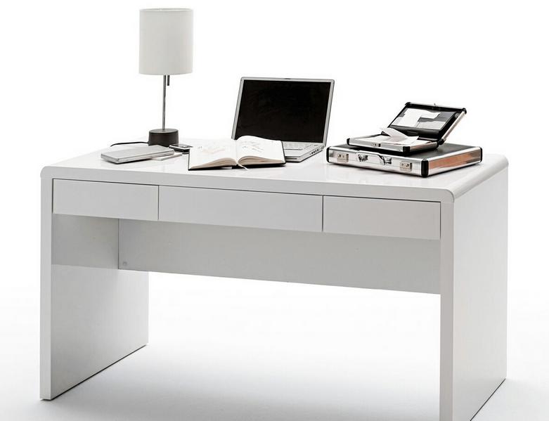 Weiße Schreibtische Entworfen Mit Einer Ziemlich Großen