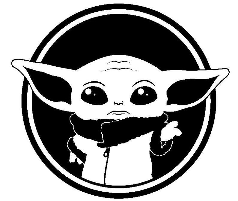 Baby Yoda The Child Star Wars Svg File Cameo Shirt Etsy Star Wars Stickers Yoda Decals Star Wars Stencil