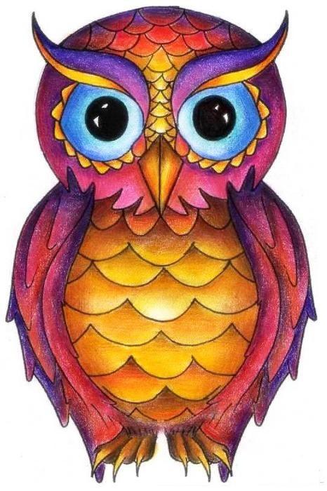 Cowlorful Traditional Owl Tattoos Owl Tattoo Design Owl Tattoo