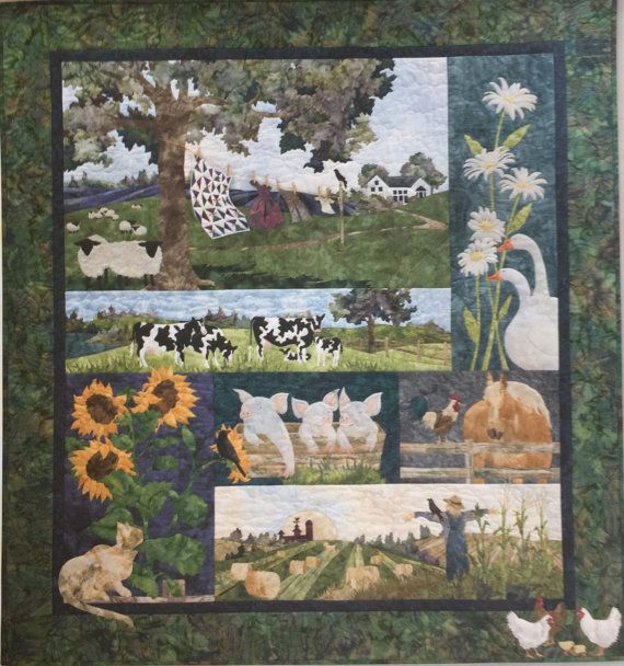 Mckenna Ryan Quilt Kit Storybook Farm Easy Fusible Appliqu All