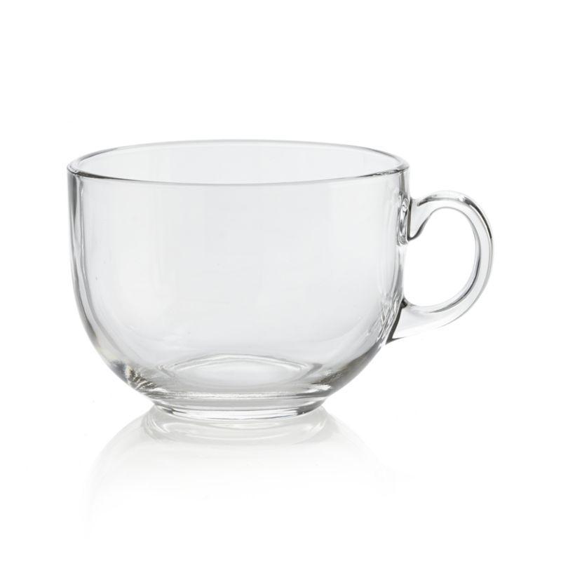 Jumbo Mug In Coffee Mugs Teacups Crate And Barrel Clear