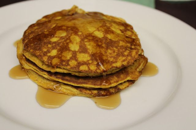 Pumpkin Pancakes - 2 cups pumpkin; 1 cup cream cheese; 6 egg whites; 4 egg yolks; 1 tsp pumpkin pie spice; 1/2 tsp cinnamon; 1/2 tsp nutmeg