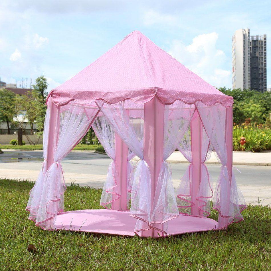 2017 hot new item portable princess castle play tent fairy house