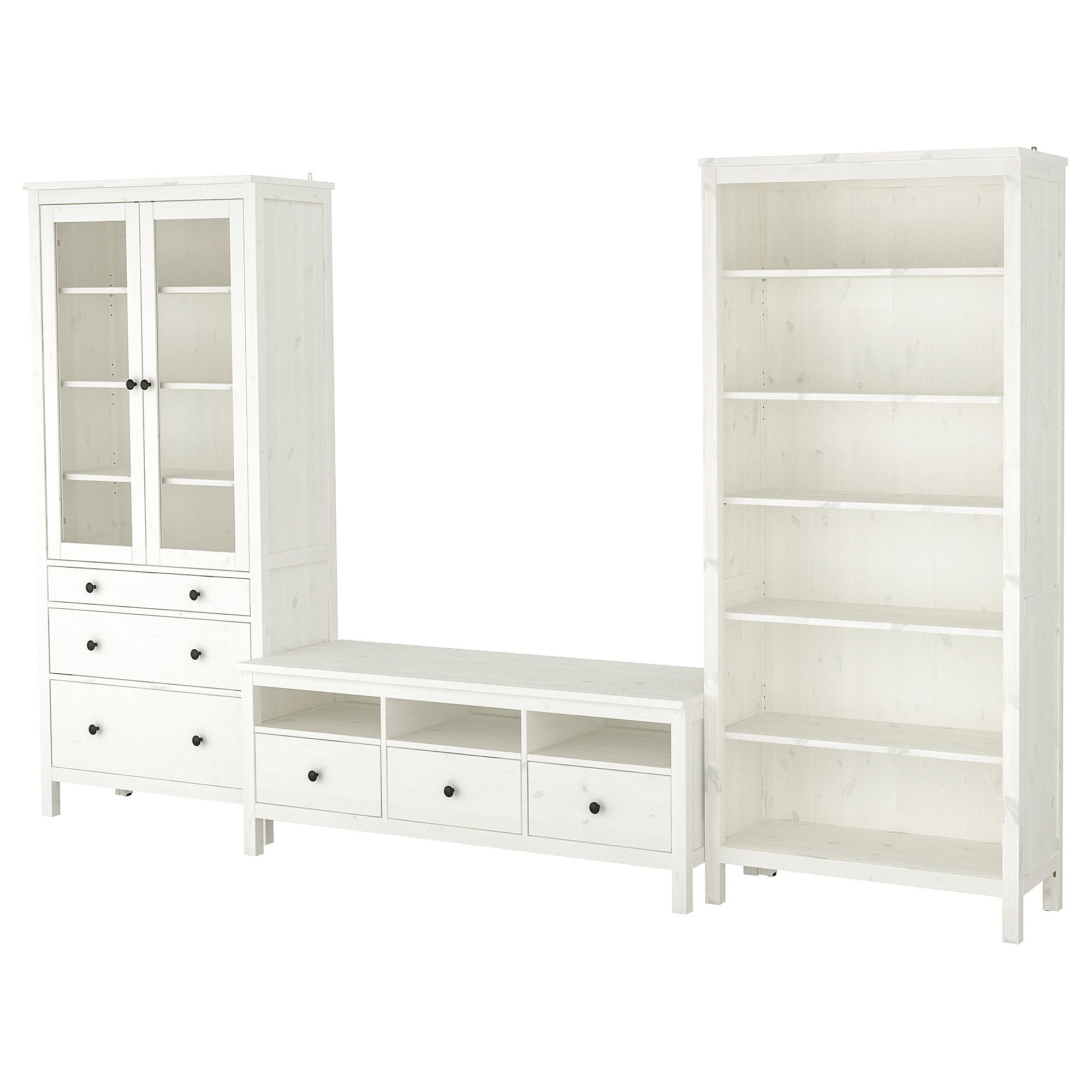 Tv stand ikea hemnes with glass on the